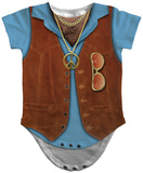 Infant: Hairy Chest Costume Romper Infant Onesie
