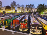 England, London, Little Venice, Canal Boats Photographic Print by Steve Vidler