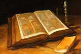 Vincent Van Gogh Still Life with Bible Poster Posters by Vincent van Gogh