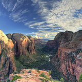 USA, Utah, Zion National Park, Zion Canyon from Angel's Landing Photographic Print by Michele Falzone
