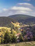 Elevated View Over the Village of Lerbach, Harz Mountains, Saxony-Anhalt, Germany Photographic Print by Gavin Hellier
