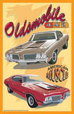 Oldsmobile 442 Tin Sign Placa de lata