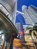 Low Angle View of the Petronas Twin Towers, Kuala Lumpur, Malaysia, Asia Photographic Print by Gavin Hellier