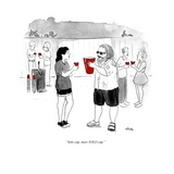 """Solo cup, meet YOLO cup."" - Cartoon Regular Giclee Print by Emily Flake"
