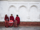 Women Sitting in Durbar Square (UNESCO World Heritage Site), Kathmandu, Nepal Photographic Print by Ian Trower