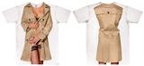 Womans: Trench Coat Nightshirt Costume Tee T-Shirt