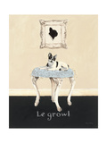 Le Growl Premium Giclee Print by Emily Adams