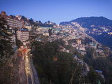 India, Himachal Pradesh, Shimla, View of Shimla City Photographic Print by Jane Sweeney