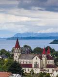 Chile, Los Lagos Region, Puerto Varas, Iglesia De Sagrado Corazon De Jesus Church Lámina fotográfica por Walter Bibikow