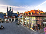 Marker Square and Guild Hall, Wernigerode, Harz Mountains, Saxony-Anhalt, Germany Photographic Print by Gavin Hellier
