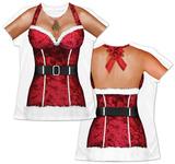 Womans: Sexy Santa Costume Tee T-skjorter
