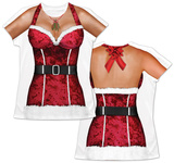 Womans: Sexy Santa Costume Tee T-Shirt