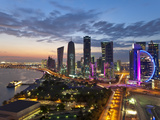 New Skyline of the West Bay Central Financial District of Doha,  Arabian Peninsula, Qatar Photographic Print by Gavin Hellier