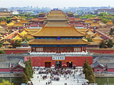 China, Beijing, the Forbidden City in Beijing Looking South Photographic Print by Gavin Hellier