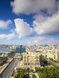 Azerbaijan, Baku, View of City Looking Towards Government House Photographic Print by Jane Sweeney