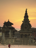 Durbar Square at Dawn, Bhaktapur (UNESCO World Heritage Site), Kathmandu Valley, Nepal Photographic Print by Ian Trower