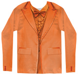 Long Sleeve: Orange Tuxedo Costume Tee Shirts