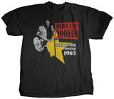 John Lee Hooker - Newport Folk Festival '63 T-Shirt by Jim Marshall