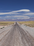 Chile, Atacama Desert, Laguna Miscanti, Desert Road Photographic Print by Walter Bibikow