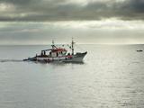 Fishing Boat Going To the Sea. Setubal, Portugal Photographic Print by Mauricio Abreu