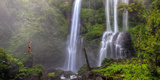 Indonesia, Bali, Central Mountains, Sekumpul Waterfall Photographic Print by Michele Falzone