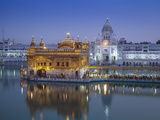 India, Punjab, Amritsar, the Harmandir Sahib,  Known As the Golden Temple Fotografiskt tryck av Jane Sweeney