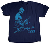 Duane Allman - The Blues T-shirts by Jim Marshall