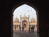 India, Delhi, Old Delhi , One of Three Entrance Gates To Jama Masjid Photographic Print by Jane Sweeney