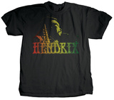 Jimi Hendrix - Rasta Colors T-Shirt