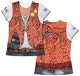Womans: 1960s Hippy Costume Tee T-skjorter