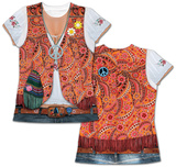 Womens: 1960s Hippy Costume Tee Womens Sublimated