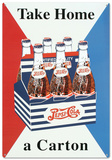 Pepsi Take Home a Carton Tin Sign Tin Sign