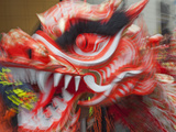 China, Hong Kong, Tai Kok Tsui Temple Fair, Dragon Dance Photographic Print by Steve Vidler