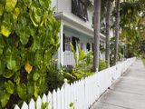 USA, Florida, Florida Keys, Key West, Truman Annex, House Detail Photographic Print by Walter Bibikow