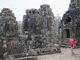 Cambodia, Siem Reap, Angkor Thom, Bayon Temple Photographic Print by Steve Vidler
