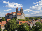 Quedlinburg Castle and Collegiate Church Saint Servatii, Harz, Saxony-Anhalt, Germany Photographic Print by Gavin Hellier