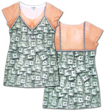 Womans: Sugar Mama Money Dress Costume Tee (Front/Back) T-Shirt