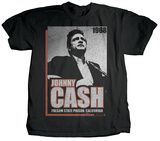 Johnny Cash - Presense T-shirts by Jim Marshall