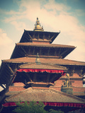 Taleju Temple, Durbar Square, Patan (UNESCO World Heritage Site), Kathmandu, Nepal Photographic Print by Ian Trower