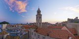 Croatia, Dalmatia, Dubrovnik, Old Town (Stari Grad) from Old Town Walls, Dominican Monastery Photographic Print by Alan Copson