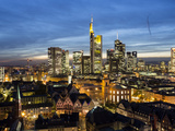Elevated View Over Romer Square and the Financial District, Frankfurt Am Main, Hesse, Germany Photographic Print by Gavin Hellier