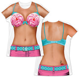 Womans: Cupcake Bikini Costume Tee Skjorter