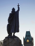 England, Hampshire, Winchester, King Alfred Statue Photographic Print by Steve Vidler