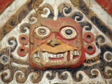 Peru, Trujillo, Mural Detail on Moche Temple of the Moon Showing Decapitator God Ai-Apaec Photographic Print by Alex Robinson