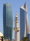 Kuwait, Kuwait City, City Center Buildings on the Right Is El Hamra Building Photographic Print by Jane Sweeney