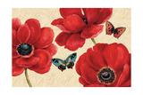 Petals and Wings on Beige I Giclee-tryk i høj kvalitet af Daphne Brissonnet