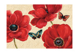 Petals and Wings on Beige I Premium Giclee Print by Daphne Brissonnet