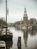 Montelbaanstoren Tower, Oudeschans Canal, Amsterdam, Holland Photographic Print by Jon Arnold