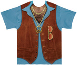 1970s Hairy Chest Costume Tee Sublimated
