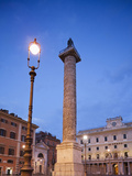 Italy, Rome, Piazza Colonna, Column of Marcus Aurelius Photographic Print by Steve Vidler